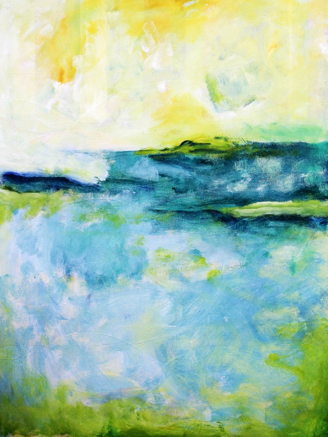 'Halcyon Springs', Acrylic on canvas 59.5 x 80 x 3.8 cm Available to buy on www.artfinder.com/product/halcyon-springs