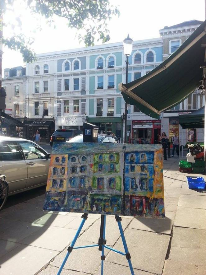 Capturing Fulham Road in a painting