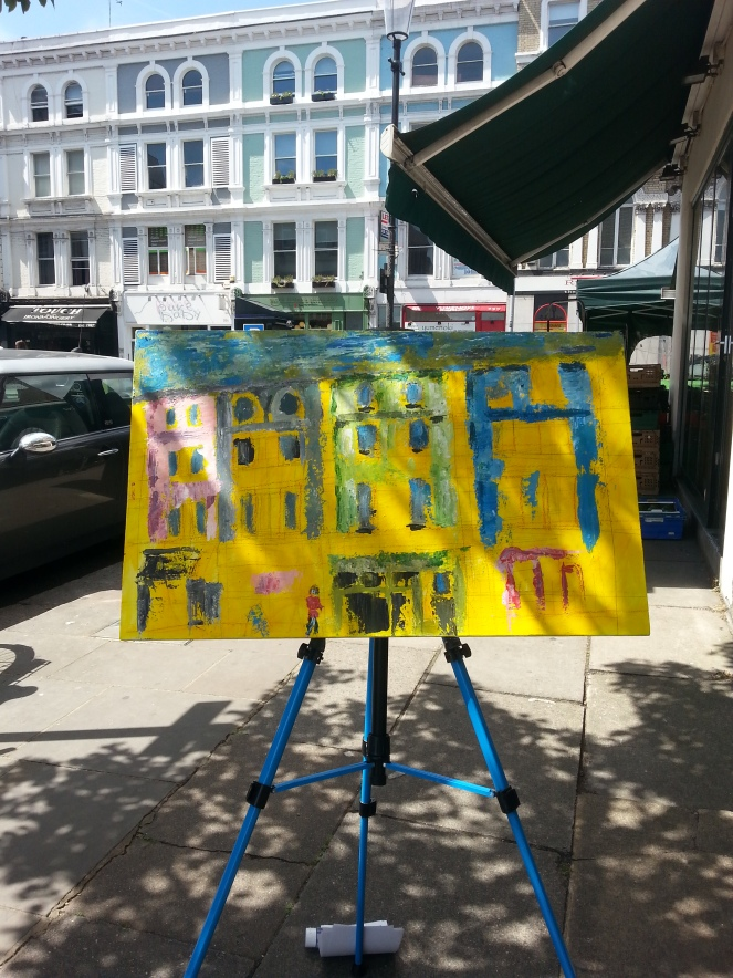 Pintar Rapido Art Competition - Painting in One Day - Fulham Road