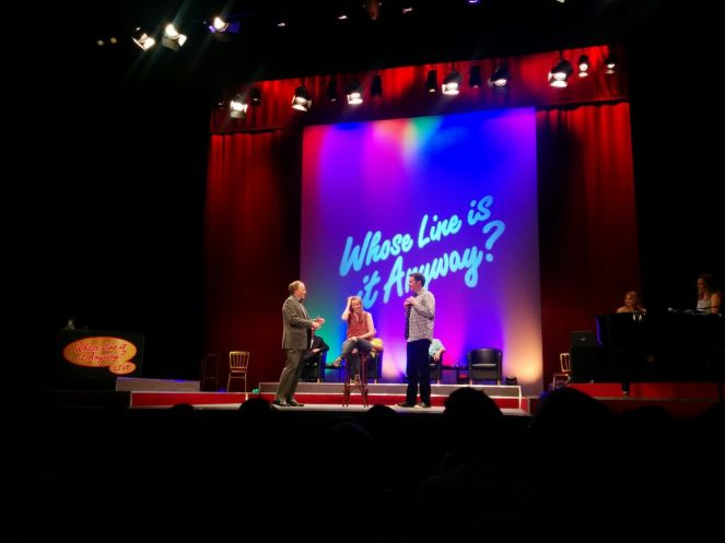 On stage with 'Whose Line Is It Anyway!' Brad Sherwood created a song for me! #bucketlist