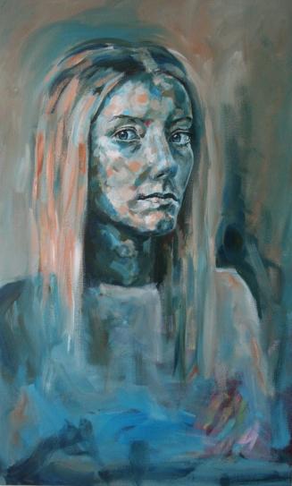 'A blue girl'