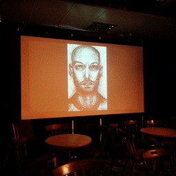 Sketch projected for Theatre show